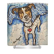 All Dogs Go To Heaven Shower Curtain