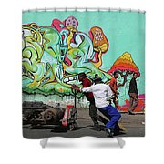All Downhill From Here Shower Curtain