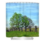 All Fenced In Along The Blue Ridge Parkway Shower Curtain