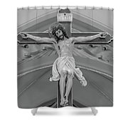 All For You Grayscale Shower Curtain