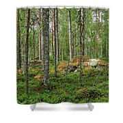 All Green Shower Curtain