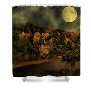 All Hallows Moon Shower Curtain