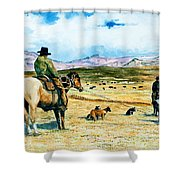 All In A Days Work Shower Curtain