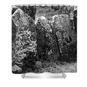 All In A Row At Fuerty Cemetery Roscommon Ireland Shower Curtain