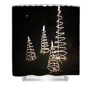 All Is Bright Shower Curtain