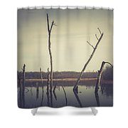 All Is Calm At Green Bottom Shower Curtain
