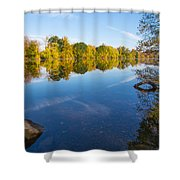 All Is Quiet On The River Shower Curtain