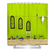 All Limed Up Shower Curtain
