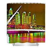 All Night Puerto Madero Shower Curtain