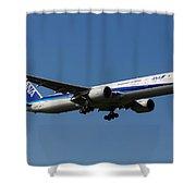 All Nippon Airways Boeing 777 Shower Curtain