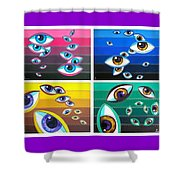 All Pictures With Eyes Shower Curtain