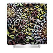 All Pied Shower Curtain