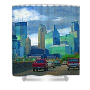All Roads Lead To Minneapolis Shower Curtain
