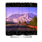 All Roads Lead To The Mountain Shower Curtain