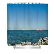 All Ships At Sea Shower Curtain