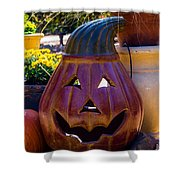 All Smiles For Halloween Shower Curtain