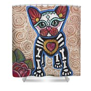 All Souls Day Aztec Shower Curtain
