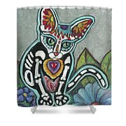 All Souls Day Leo Shower Curtain