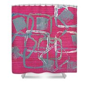 All Squared Away Shower Curtain