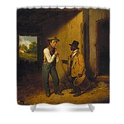 All Talk And No Work Shower Curtain