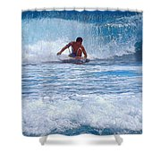 All The Way To Shore Shower Curtain
