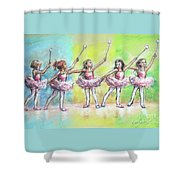 All Together Now...first Ballet Recital Shower Curtain