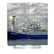 Cloudy Day On The Marina Shower Curtain