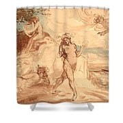 Allegorical Subject Shower Curtain