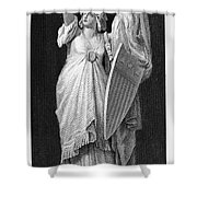 Allegory: Columbia, 1870 Shower Curtain