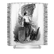 Allegory: Columbia, C1870 Shower Curtain