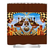 Allegory Of Chess. Equal Exchange Shower Curtain