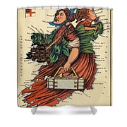 Allegory Of Ireland Shower Curtain