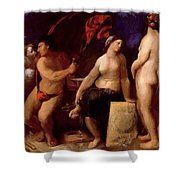 Allegory Of Music 1522 Shower Curtain