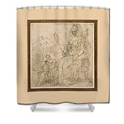 Allegory Of Pride Shower Curtain
