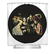 Allegory Of The 5 Senses Shower Curtain