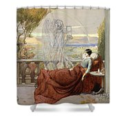 Allegory Of Tuberculosis, 1912 Shower Curtain