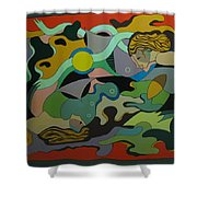 Allegory-the Double Personality Shower Curtain