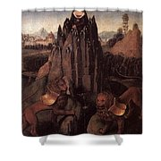Allegory With A Virgin 1479 80 Hans Memling Shower Curtain