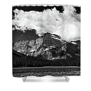 Allen Mountain Towers Over Swift Current Lake Shower Curtain