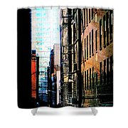 Alley Abstract #2 Shower Curtain