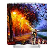 Alley By The Lake Shower Curtain
