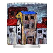 Alley Doors Shower Curtain