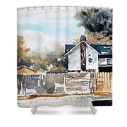 Alley Fences Shower Curtain