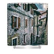 Alley In An Alpine Village #1 Shower Curtain