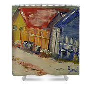 Alley In Winter  Shower Curtain