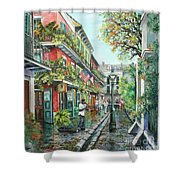 Alley Jazz Shower Curtain by Dianne Parks