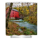 Alley Mill In Autumn Shower Curtain