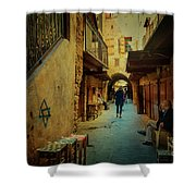 Alley Of Old Sidon Shower Curtain