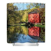 Alley Spring Mill Reflection Shower Curtain