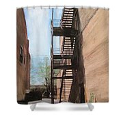 Alley W Fire Escape Shower Curtain